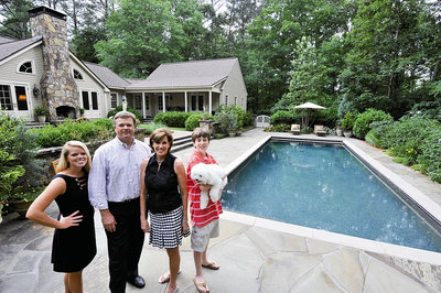 Stowers Family Home Backyard with Pool